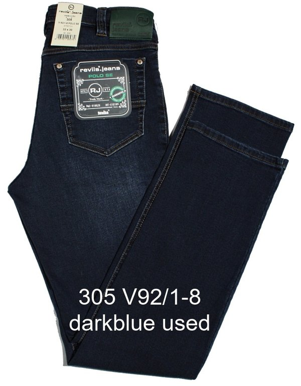 REVILS Jeans 305 V92/1-8 POLO SE Stretch blue used W42 bis W50