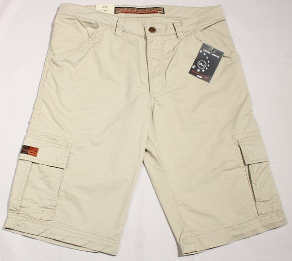 REVILS 675 V4801 Cargo-Bermuda Stretch in hellbeige