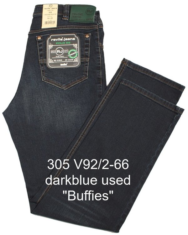 REVILS Jeans 305 V92/2-66 POLO SE Stretch blue used mit Buffies